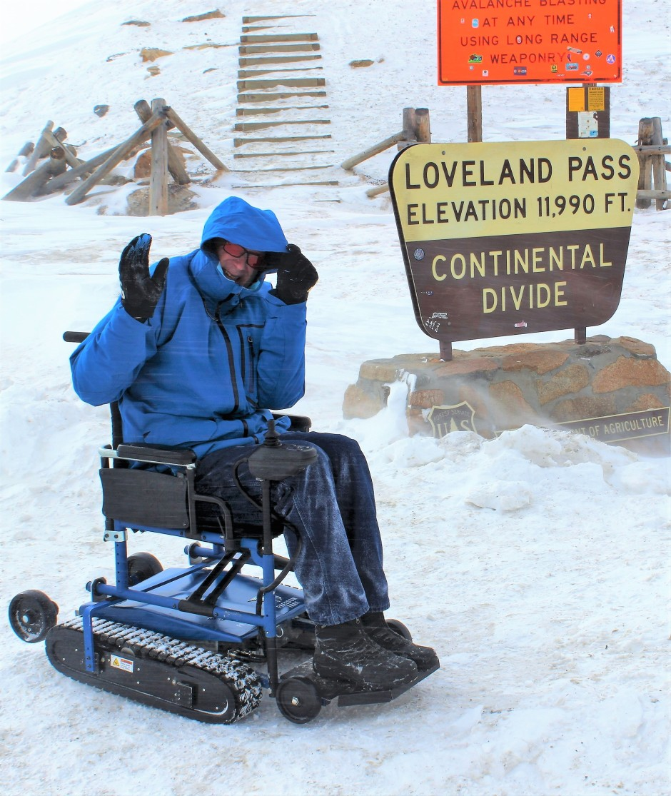 Freedom Trax at Loveland Pass on the Continental Divide in the Colorado Rockies