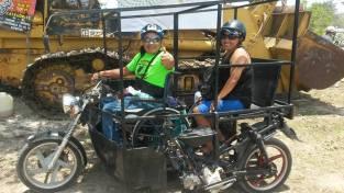 Gabi and his custom ride in Cozumel.