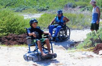 Gabi and Gaspar on the beach off the Punta Molas trail.