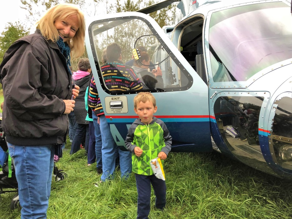 Checking out the flight for life helicopter