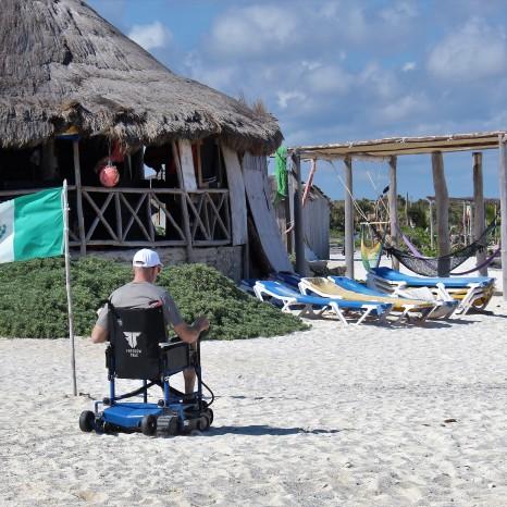 On Freedom Trax at a beach club in Cozumel